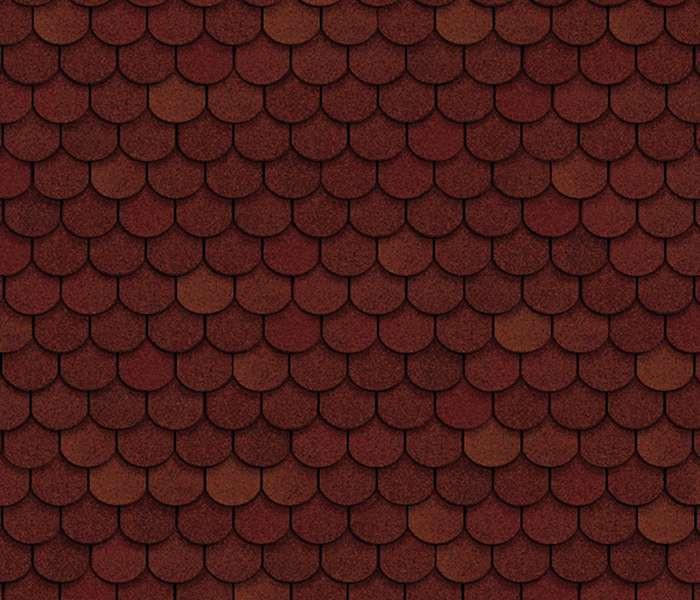 Битумная черепица SHINGLAS Классик Танго, красный, 3 кв.м./упаковка