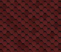 Битумная черепица SHINGLAS Ультра Самба, красный, 3 кв.м./упаковка