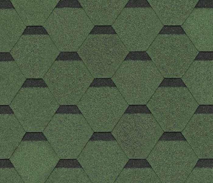 Битумная черепица SHINGLAS Ультра Самба, зеленый, 3 кв.м./упаковка