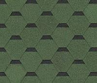 Битумная черепица SHINGLAS Ультра Самба, зеленый, 3 кв.м./упаковка, фото 1