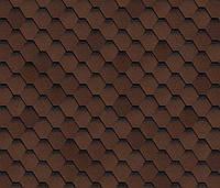 Битумная черепица SHINGLAS Ультра Самба, коричневый, 3 кв.м./упаковка