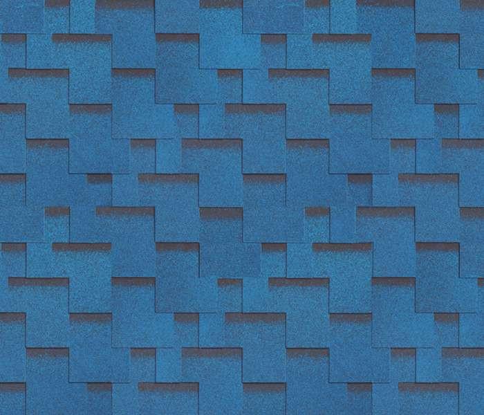 Битумная черепица SHINGLAS Ультра Джайв, синий, 3 кв.м./упаковка