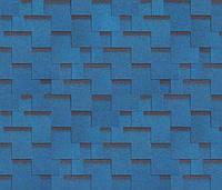 Битумная черепица SHINGLAS Ультра Джайв, синий, 3 кв.м./упаковка, фото 1