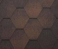 Битумная черепица KATEPAL Jazzy, коричневый, 3 м.кв./упаковка