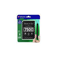 Внешний HDD накопитель VERBATIM 750 GB 2.5 External Black Blister ( 53213)