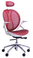 Кресло Lotus HR пластик белый/сетка красная