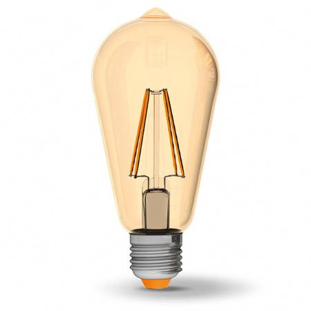 LED лампа VIDEX ST64FA 6W E27 2200K 220V бронза, фото 2