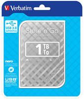 Внешний HDD накопитель VERBATIM 1TB 2.5 External Silver (53197)