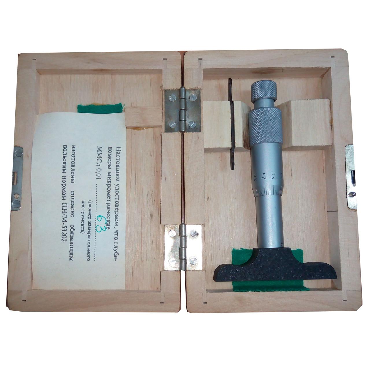 Глубиномер микрометрический MMsd-S-63 0÷25 мм 0,01 VIS
