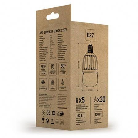 LED лампа VIDEX А80 20W E27 6000K 220V матовая, фото 2