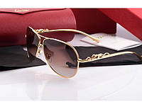 Солнцезащитные очки Cartier 205 gold