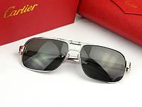 Солнцезащитные очки Cartier (0689) silver