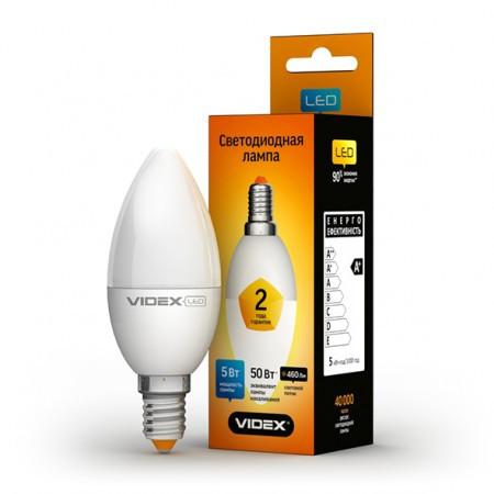 LED лампа VIDEX C37e 5W E14 4100K 220V