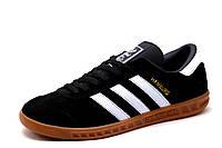 Кроссовки Adidas Hamburg, мужские, черные, р.42 43 44