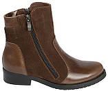 Ботинки женские кожаные коричневые 37, фото 2