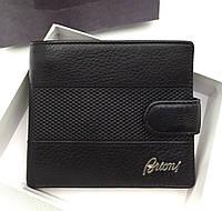 Мужское портмоне в стиле Brioni (91006) black, фото 1