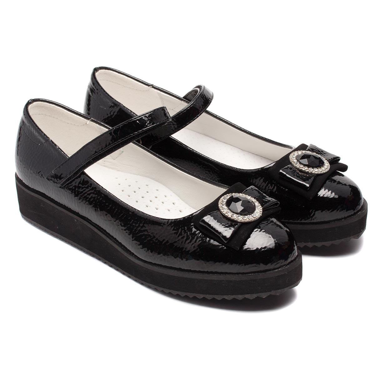 Лаковые туфли B&G для девочек, размер 32-37