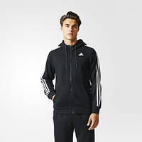 Утепленная худи мужская Adidas Sport Essentials 3-Stripes Fleece Hoodie AB7407
