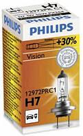 Автолампа галоген Philips H7 12V 55W +30 % световой поток, фото 1