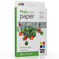 Фотобумага ColorWay сатин 260 г/м², 10х15, 50 л. (PS2600504R)