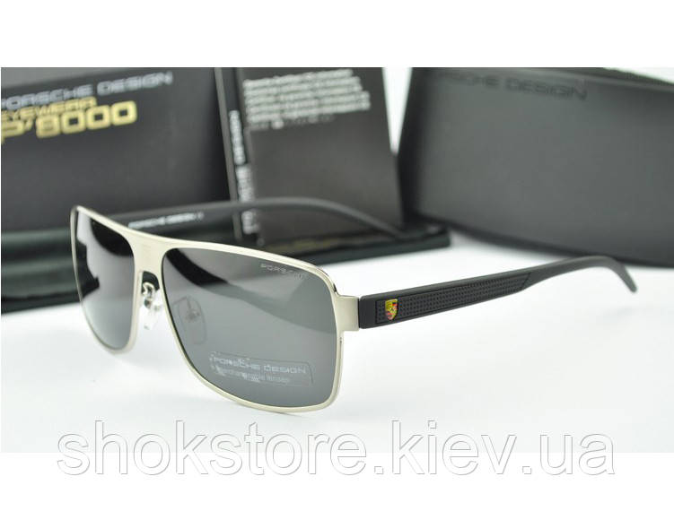Солнцезащитные очки Porsche Design c поляризацией (p8508) серебрянная  оправа - shokstore.com. eb9c7df7396f7