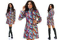 Женская пальто с принтом-огурцы