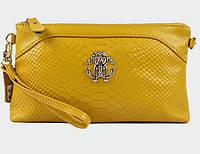 Клатч - сумка Roberto Cavalli (желтый цвет)
