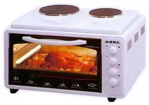 Электрическая духовка ASEL - 0125 объёмом 40 литров , с конфорками , пр - воТурция, фото 2