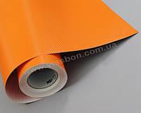 Пленка под карбон 3D оранжевая CF air channel