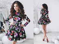 Пышное платье с цветочным принтом в расцветках 553 (1039), фото 1