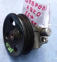 Насос гидроусилителя руля ( ГУР шкив 6 ручейков, d 122)Chevrolet Aveo 1.4 16V2012 -95462626