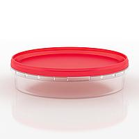 Судок пластиковый пищевой круглый, 500 мл Красный