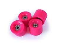 Розовые Колеса для Пенни Борда 4 Штуки с Подшипниками Abec-7