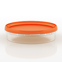 Судок пластиковый пищевой круглый, 500 мл Оранжевый