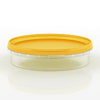 Судок пластиковый пищевой круглый, 500 мл Желтый