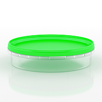 Судок пластиковый пищевой круглый, 500 мл Зеленый