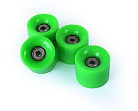 Зеленые Колеса для Пенни Борда 4 Штуки с Подшипниками Abec-7