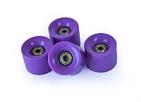 Фиолетовые Колеса для Пенни Борда 4 Штуки с Подшипниками Abec-7