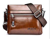 Мужская сумка Polo brown 611