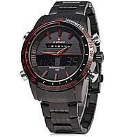 Мужские наручные часы Naviforce NF9024Dual Movt Men Quartz Analog Digital LED Wristwatch Calendar