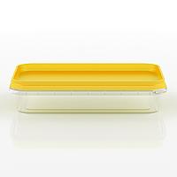 Судок пластиковый пищевой прямоугольный, 200 мл Желтый