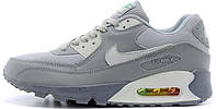 Мужские кроссовки Nike Air Max 90 Premium (найк аир макс) серые