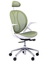 Кресло Lotus HR пластик белый /сетка зеленая