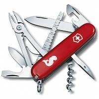 Нож швейцарский Victorinox Swiss Army Angler красный