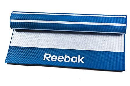 Коврик Reebok RAYG-11030BL для йоги и аэробики 1730x610x4 мм, фото 2