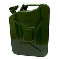 Металлическая канистра FORTE для ГСМ на 10 литров