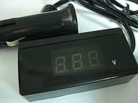 Автомобильный цифровой вольтметр от прикуривателя со шнуром