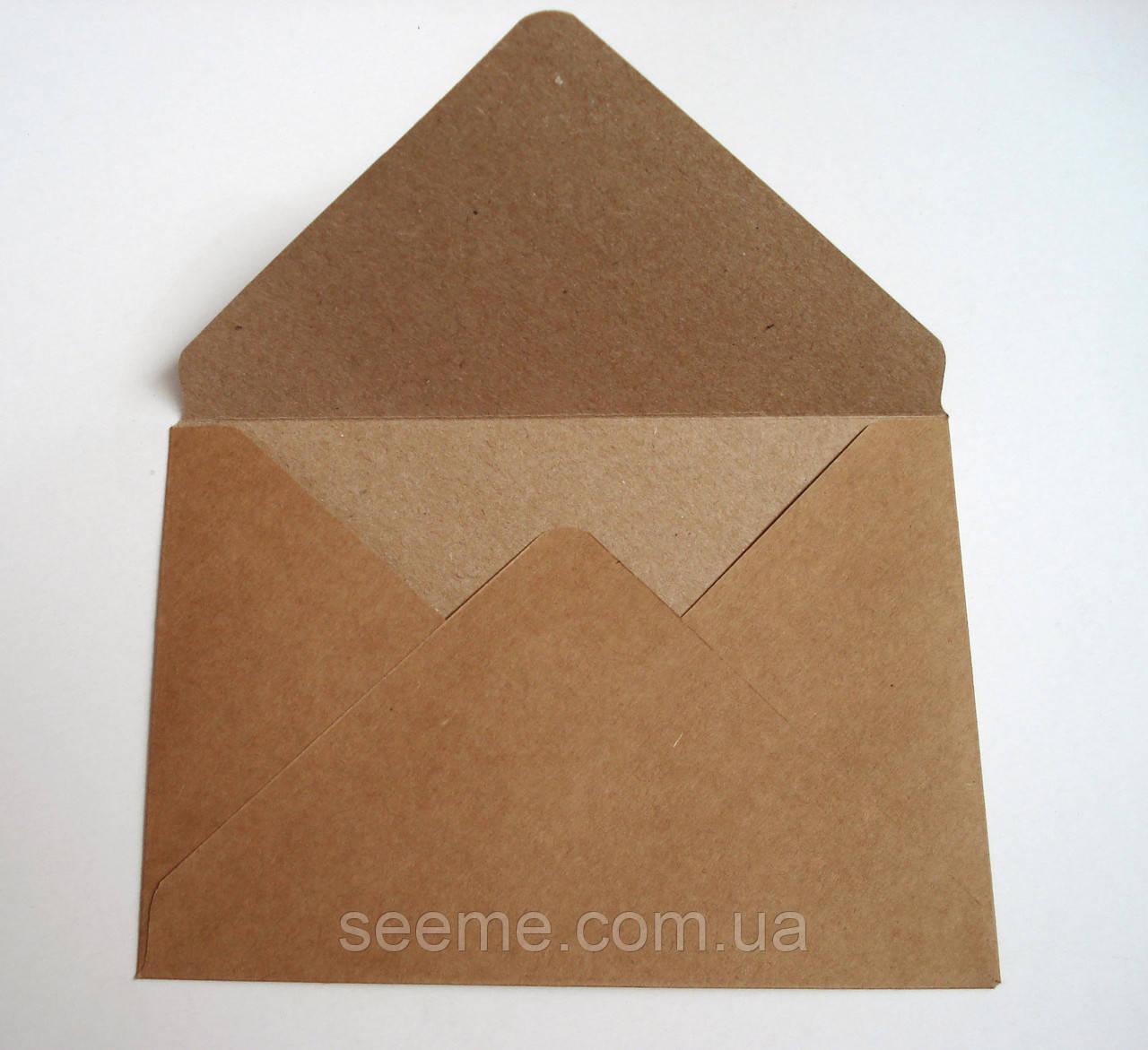 Конверт з крафт паперу, 170х120 мм