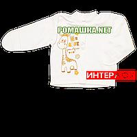 Детская кофточка р. 56 с царапками демисезонная ткань ИНТЕРЛОК 100% хлопок ТМ Алекс 3173 Бежевый