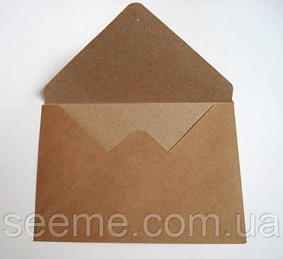 Конверт з крафт паперу, 130х95 мм.